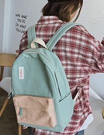 Fashion Sky Blue Contrast Canvas Backpack
