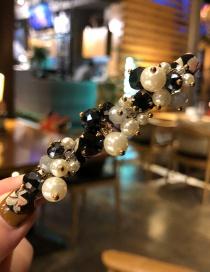 Fashion Beaded/black Imitation Pearl Hairpin