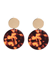Fashion Brown Alloy Plating Ring Earrings
