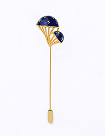 Fashion Gold Mushroom Shape Brooch
