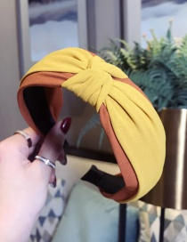 Fashion Orange + Yellow Contrast Knotted Wide-brimmed Headband