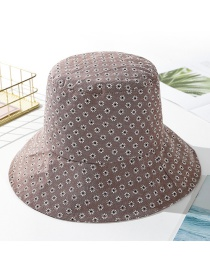 Fashion Coffee Color Daisy Cotton Fisherman Hat