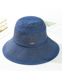 Fashion Navy Cotton Line: Big Sun Hat