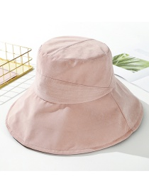 Fashion Pink Peach Velvet Solid Color Cloth Hat