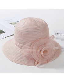 Fashion Snow Bud Powder Organza Flower Foldable Fisherman Hat
