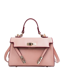 Fashion Pink Cross Section Crossbody Single Shoulder Kelly Bag
