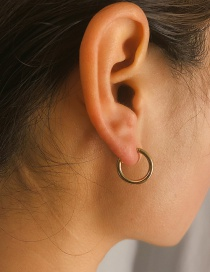 Fashion Gold C-shaped Half-ring Earring
