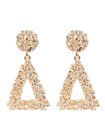 Fashion Gold Gold-plated Triangle Earrings