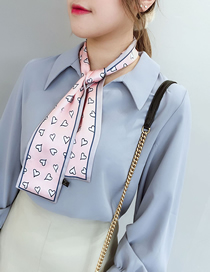 Fashion Pink Grid Pointed Small Scarf