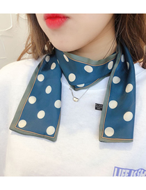 Fashion Big Dot Blue Houndstooth Multifunctional Small Scarf