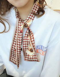 Fashion Brick Red Long Strip Of Thin Solid Scarves