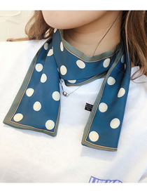 Fashion Blue Polka Dot Double-sided Scarf