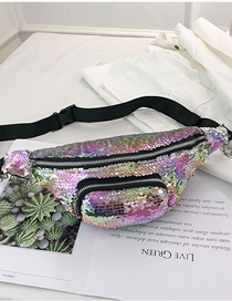 Fashion Purple Crossbody Single Sequins Shoulder Bag