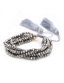Fashion Silver Suit Woven Bracelet Rice Beads Eyes