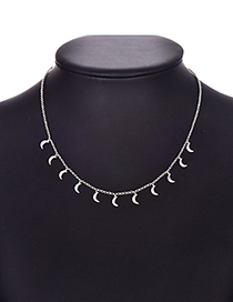 Fashion Moon Alloy Silver Necklace
