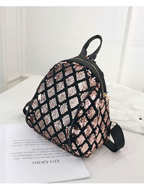 Fashion Gold Sequined Square Backpack Trumpet
