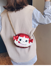 Fashion Red Portable Cartoon Chain Slung Shoulder Bag