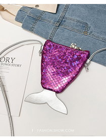 Fashion Rose Red Mermaid Tail Sequined Crossbody Shoulder Bag