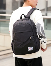 Fashion Black Three-piece Backpack