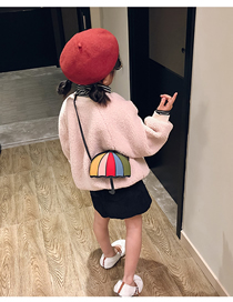 Fashion Color Small Umbrella Children's Messenger Bag