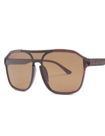 Fashion Deep Tea Box Full Tea Siamese Lens Sunglasses