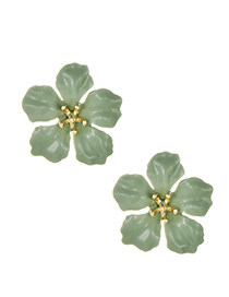Fashion Green Alloy Flower Earrings