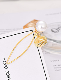 Fashion Gold Pearl Small Shell Hairpin