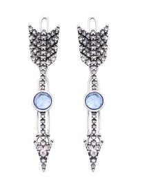 Fashion Silver Cupid's Arrow Crystal Diamond Hair Clip