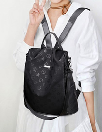 Fashion Black 2 Oxford Cloth Backpack