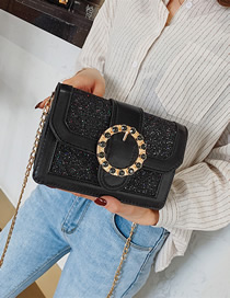Fashion Black Crossbody Chain Shoulder Bag