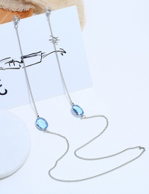 Fashion Silver Portrait Alloy Necklace Earrings Integrated Chain