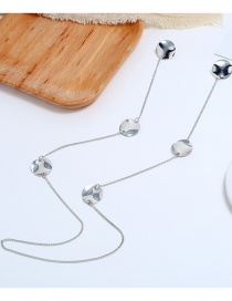 Fashion Silver Portrait Alloy One-piece Necklace Earrings