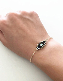 Fashion Gold Eye Totem Stainless Steel Gold Plated Braided Bracelet