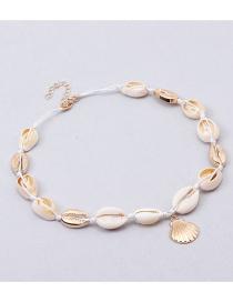 Fashion White Shell Adjustable Necklace