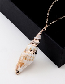 Fashion Gold Conch Necklace