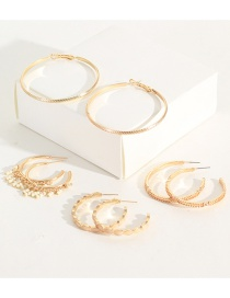 Fashion Gold Ring Rice Earrings