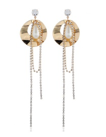 Fashion Gold Diamond Earrings