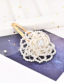 Fashion Gold Alloy Pearl Flower Card