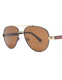Fashion Brown Metallic Sunglasses