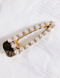 Fashion Triangle (gold) Round Pearl Hairpin