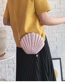 Fashion Pink Laser Pearl Shoulder Diagonal Package