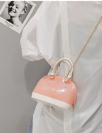 Fashion Pink Transparent Hand Shoulder Shoulder Bag