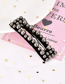 Fashion Gun Color Alloy Resin Square Beads Hairpin