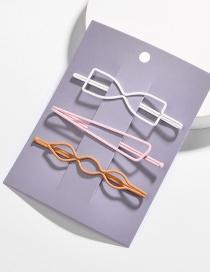 Fashion Color Triangle Bow Spray Hair Clips 3