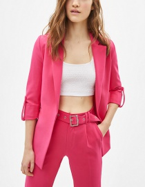 Fashion Pink Rolled Sleeve Suit