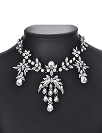 Fashion Silver Alloy Diamond Necklace