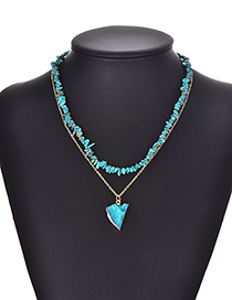 Fashion Blue Alloy Resin Necklace Set