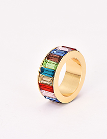 Fashion Color Alloy Diamond Ring