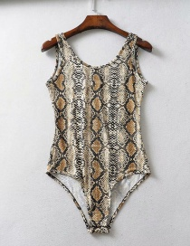 Fashion Leopard Printed Vest Jumpsuit