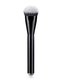 Fashion Black Single - Black Bright Handle - Foundation Brush - Black And White Hair